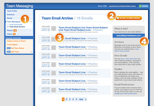 Easy team communication and email archives